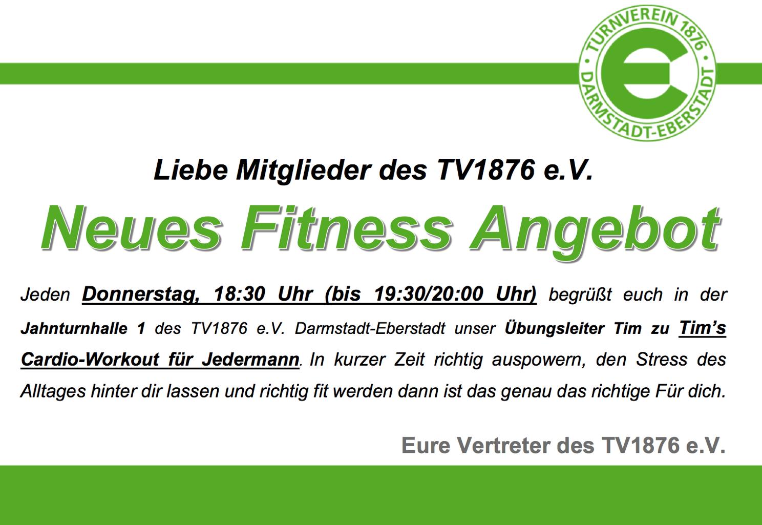 Fitness Tim Werbung